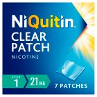 NiQuitin CQ Clear step 1 patches - 7s