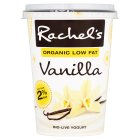 Rachel's organic luscious low fat vanilla yogurt - 450g