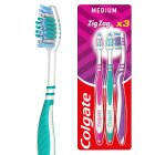 Colgate zigzag plus medium toothbrushes