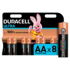 Duracell Ultra Power AA Batteries Alkaline - 8s Brand Price Match - Checked Tesco.com 21/01/2015