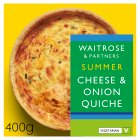 Waitrose extra mature Cheddar & onion quiche - 400g