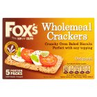 Fox's crackers wholemeal crackers