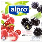 Alpro Soya blackberry & raspberry plant-based alternative to yogurt - 4x125g Brand Price Match - Checked Tesco.com 15/10/2014