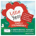 Little Yeos simply strawberry smooth yeogurts - 4x90g Brand Price Match - Checked Tesco.com 05/03/2014