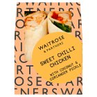 Waitrose sweet chilli chicken wrap - each