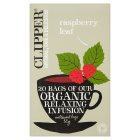 Clipper 20 bags of raspberry organic infusion - 50g Brand Price Match - Checked Tesco.com 02/12/2013