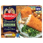 Birds Eye 4 breaded large haddock fillets frozen - 480g