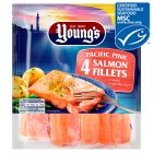 Young's Pacific pink salmon 4 chunky fillets - 360g