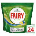 Fairy All In One Lemon Dishwasher Tablets 24 pack