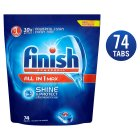 Finish All in One Max Original Dishwasher Tablets, x74 - 1391g