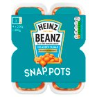 Heinz Beanz reduced sugar & salt snap pots - 4x200g Brand Price Match - Checked Tesco.com 09/12/2013