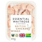 essential Waitrose British chicken wings - 475g