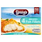 Young's 4 breaded fish fillets - 400g