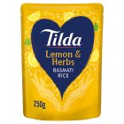 Tilda steamed basmati rice lemon basmati - 250g Brand Price Match - Checked Tesco.com 04/12/2013