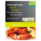 Waitrose Frozen breaded atlantic lemon sole goujons - 220g