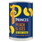 Princes peach slices in syrup - drained 247g