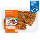 Waitrose MSC cod fillets in a seeded crumb - 260g