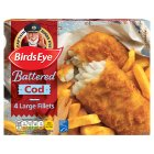 Birds Eye 4 large cod fillets in crispy batter - 480g