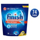 Finish All in One Max Lemon Dishwasher Tablets, x74 - 1391g