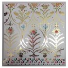 Waitrose Foil Art Floral Blank Card - each