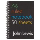 John Lewis A6 ruled notebook - each