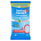 Sani+hands anti-bacterial cleansing hand wipes - 12s Brand Price Match - Checked Tesco.com 05/03/2014