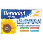Benadryl allergy liquid capsules