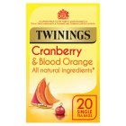 Twinings cranberry & blood orange 20 tea bags - 40g Brand Price Match - Checked Tesco.com 23/04/2015