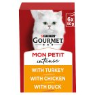GOURMET Mon Petit Adult Cat Original Delightful Poultry Menu Wet Cat Food Pouch - 6x50g