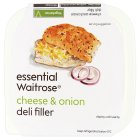 essential Waitrose cheese & onion deli filler - 170g