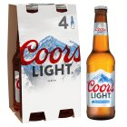 Coors Light Premium Light Tasting Beer - 4x330ml