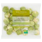 Waitrose Trimmed brussels sprouts - 365g
