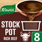 Knorr rich beef 8 pack stock pot - 8x28g Brand Price Match - Checked Tesco.com 08/02/2016