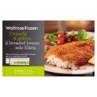 Waitrose Frozen 2 Breaded Lemon Sole Fillets - 260g