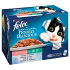 PURINA® FELIX® As Good as it Looks Doubly Delicious Adult Cat Ocean Recipes in Jelly Wet Food Pouch - 12x100g