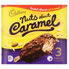 Cadbury nuts about caramel ice creams - 3x100ml