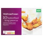 Waitrose Frozen 10 Butterflied King Prawns - 130g