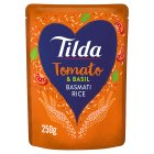 Tilda steamed basmati rice sundried tomato - 250g Brand Price Match - Checked Tesco.com 14/04/2014
