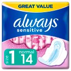 Always Simply Fits Normal Plus with Wings Sanitary Towels 16PK - 16s