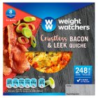 Weight Watchers crustless bacon & leek quiche - 160g