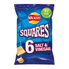 Walkers Squares salt & vinegar multipack crisps - 6s