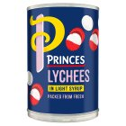 Princes lychees in syrup - drained 180g Brand Price Match - Checked Tesco.com 24/08/2015