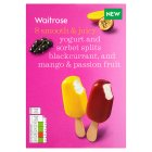 Waitrose 8 yogurt & sorbet splits - 8x50ml