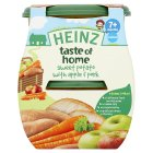 Heinz taste of home sweet potato with apple and pork, 7+ months - stage 2