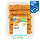 essential Waitrose 6 line caught chunky haddock fillet fingers in breadcrumbs - 300g