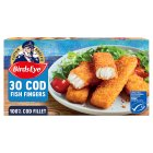 Birds Eye 30 cod fish fingers frozen - 840g