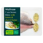 Waitrose sea bream with lemon & chervil butter - 210g