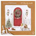 Waitrose Christmas fireplace & door cards - 10s