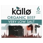 Kallo 6 beef stock cubes very low salt - 48g