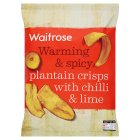 Waitrose spicy plantain crisps with sweet chilli & lime - 100g